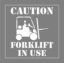 FORKLIFT IN USE STENCIL  Line Marking Signs  Safety CNC  Wheel Chair