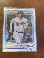2021 BOWMAN CHROME - KODY HOESE - SILVER REFRACTOR !!  /499