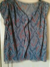 M&S AUTOGRAPH GREY MIX FRILLED FRONT CAP SLEEVE  TOP +  VEST   SZ 20