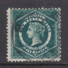 N.S.W. : 5d Blue/Green Qv Sg 233 Perf 12 Wmk C Nsw Inverted F. Used