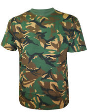 MENS ARMY CAMOUFLAGE PRINT COMBAT MILITARY CASUAL TOP T-SHIRTS SIZES S - XL