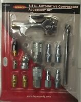 "Legacy AC8000 1/4"" 13 Piece Air Compressor Blow Gun Accessory Kit"