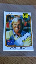Greg Norman ROOKIE Sticker - Panini Supersport 1987 UK - Great Condition