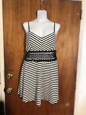 Black / White Striped Plus Size 2x Dress