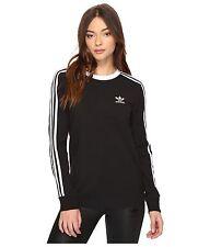 SMALL  adidas Originals Women's Tight Fit  3 STRIPES L/S  TEE  UK10-US:6  LAST1