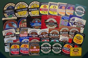 COLLECTION 40 DIFFERENT KING & BARNES BEER LABELS - HORSHAM, SUSSEX BREWERY.