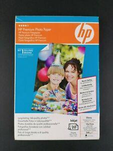 HP Premium Photo Paper Inkjet Glossy 10x15cm 240 GSM 20 Sheets