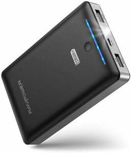 RAVPower Portable Charger 16750mAh External Battery Power Bank BLACK RP-PB19
