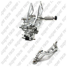 Adjustable CNC Silver Rearsets Rear Sets Foot Pegs For Yamaha YZF R6 2006-2014