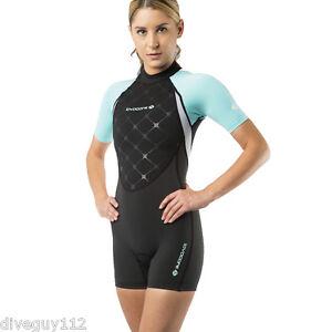 Lavacore LavaSkin Ladies Sporty Shorty Swimwear Swimsuit Green/Gray