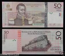 Haiti Paper Money 50 Gourdes 2004 UNC, Signature #2