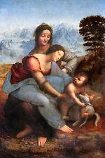 Leonardo da Vinci - Virgin and Child with St Anne, Poster Art, Canvas Print