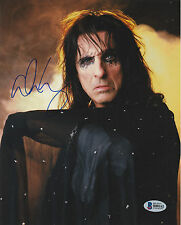 ALICE COOPER SIGNED AUTO'D 8X10 PHOTO BAS COA THE GODFATHER OF SHOCK ROCK HOF E