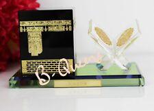 CRYSTAL CUT ISLAMIC KAABA WITH QURAN FOR HOME DECOR RAMADAN EID GIFT & GIFT BOX