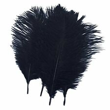 10pcs Ostrich Feathers Black 10-12inch Home Decoration Craft Mask Wedding