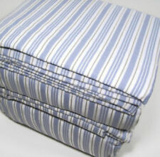 Cuddl Duds Flannel Sheet Set- BLUE STRIPE QUEEN brand new in package