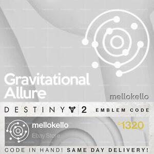Destiny 2 Gravitational Allure emblem IN HAND!! SAME DAY DELIVERY!!!