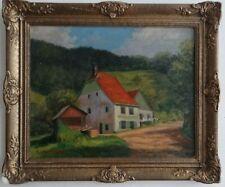 Paul Wessang (1919-1981) ancien tableau huile paysage Colmar Alsace signé