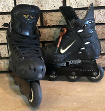 NIKE Zoom Air Inline Roller Skates Blades Hockey Men's 7 Made Canada HR005-002