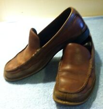 Men's Timberland Soft Brown Leather Loafers - Size 9.5        x