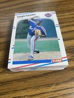 (40) 1988 Fleer Dwight Gooden #135 New York Mets NM-MT+ Lot