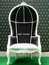 Hooded Canopy Chair   Black & White