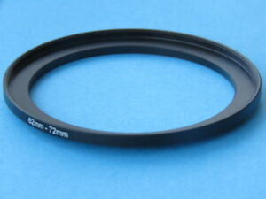 62mm to 72mm Step Up Step-Up Ring Camera Filter Adapter Ring 62-72mm