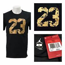 NWT NIKe Jordan Men's SZ Large 23 Dreams Black Gold Graphic T-Shirt 801073 011