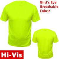 Hi Vis High Visibility T Shirt Non ANSI Short Sleeve Safety Green Tee Shirts