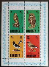 127. BARDSEY ISLAND 1979 STAMP M/S BARDSEY BIRDS , OWLS DUCKS, EAGLE . MNH