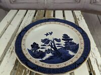 """Royal Doulton real old willow plate coffee tea blue 11"""" dinner large"""