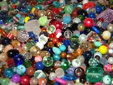 NEW 8/oz Multi-colored MIXED LOOSE BEADS LOT Gemstone, Glass, Pearl mix