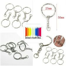20 x Keyring Blanks Silver Tone Key Chains Findings Split Rings 4 Link