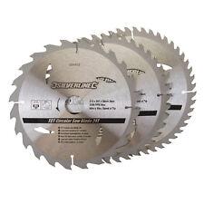 Silverline 690459 TCT Lames de scie circulaire 24,40,48T 3pk 210 x 30 - 25,16 mm