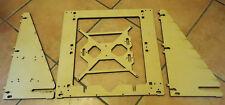 Prusa i3 mk2 mk3 reprap Laser Cut frame MDF 10mm versione rework