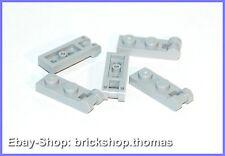 Lego 5 x Platte mit Griff hellgrau (1 x 2) - 60478 - Light Bluish Gray - NEU/NEW