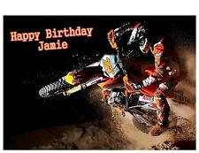 Motorcross Scramble A5 Birthday Card Personalised Son Dad Brother Grandson Uncle