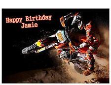 Motorcross Scramble a5 Compleanno Biglietto Personalizzato Figlio Papà Fratello Zio nipote