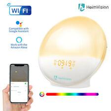 Heimvision Wake-up Light LED Lichtwecker Farbwechsel Radio Wecker Sonnenaufgang
