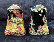 "Vintage Royal Winton Grimwades ""Pekin Black""  Salt & Pepper Shakers"