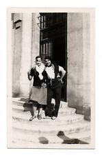 PHOTO ANCIENNE Costume Déguisement Vers 1930 Travesti Couple Drôle Fête Homme