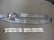 Reals Coins Belt And Bracelet Jewelry Set Very Rare Made Entirley Of Silver 1/4