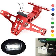 Adjustable License Plate Mount Holder Bracket LED For Kawasaki Z1000 2010-2013