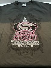 George Strait Country Music Tshirt Gray 2014 Graphic Shirt Women's Size Xl (1125
