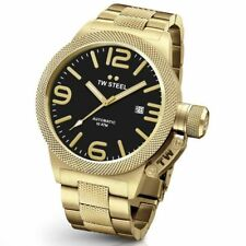 TW Steel CB96 Herren Gold & Black 50MM Canteen Automatik Watch - 2 Jahre Garantie