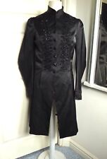 Victorian Coat Jacket Fitted Beaded Steampunk Whitby Goth TOPSHOP Limited UK 10