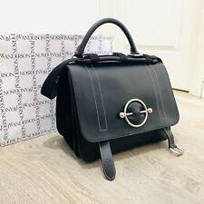 J. W. Anderson Black Leather Disc Satchel Top Handle Shoulder Crossbody Bag