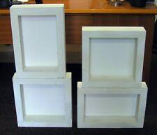 4 Wandregale aus Holz Vintage weiß Quadrat: 40 x 40 / Rechteck: 48 x 33 cm Regal