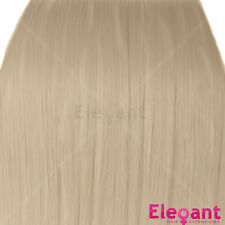 """Clip in Hair Extensions Champagne Blonde Straight 18"""" Full Head 8 Pcs 120g"""