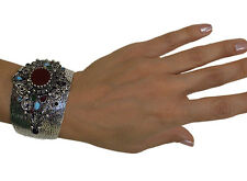 Ottoman Style Cuff Bracelet Harem Sultan High Quality Fashion Jewelry Burgundy